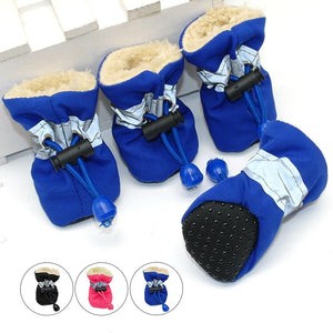 Waterproof Winter Pet Dog Shoes ( 4 Piece)