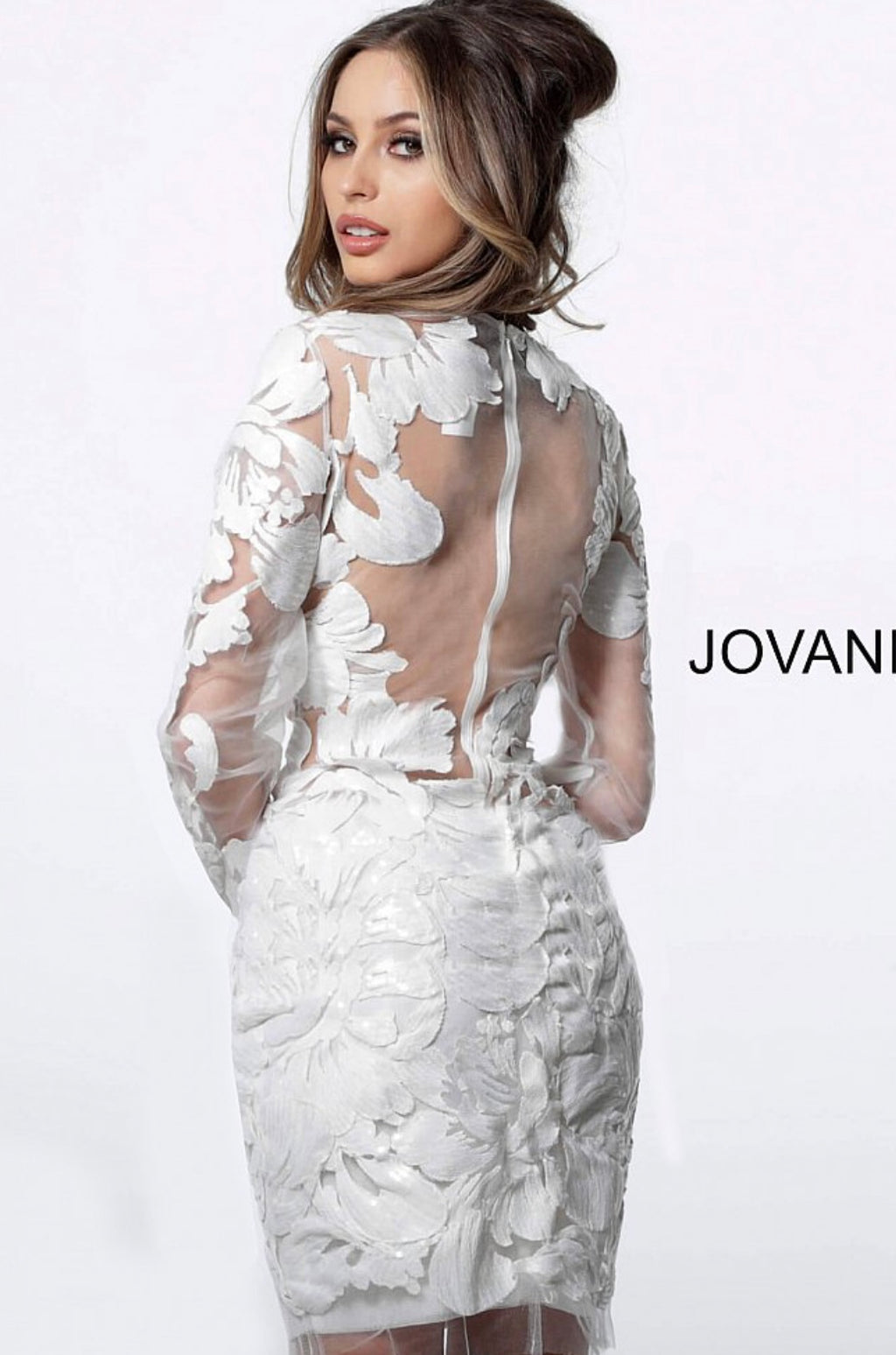 JOVANI 62811 Long Sleeve Fitted Dress - CYC Boutique