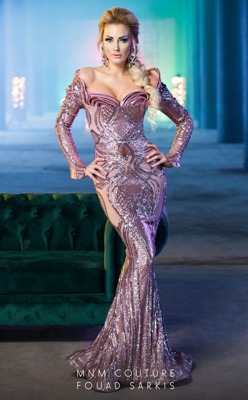 MNM Couture 2481 Fouad Sarkis Evening Dress - CYC Boutique