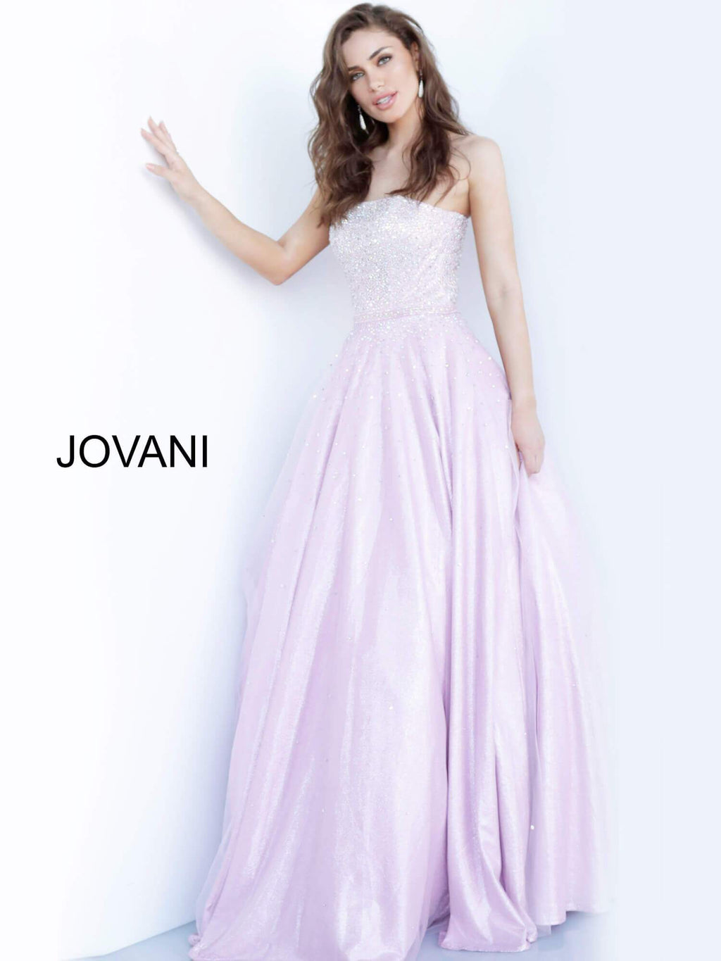 JOVANI 00462 Strapless Embellished Prom Ballgown - CYC Boutique