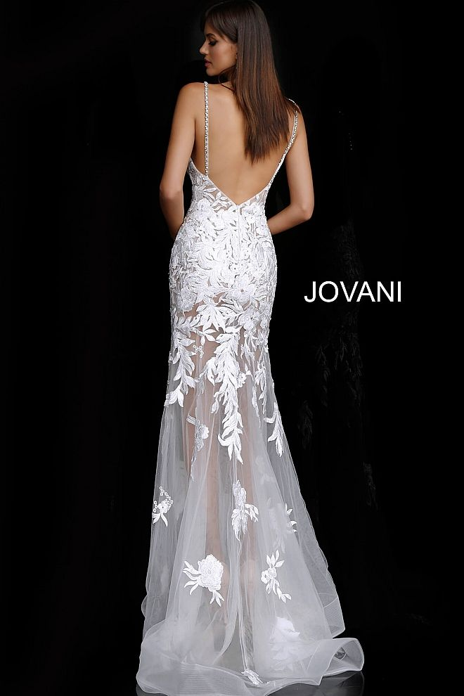 JOVANI 68401 Embroidered Wedding Dress - CYC Boutique