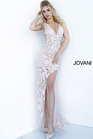 JOVANI 4084 High Slit Evening Dress