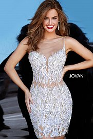 JOVANI 4545 Embellished Cocktail Dress