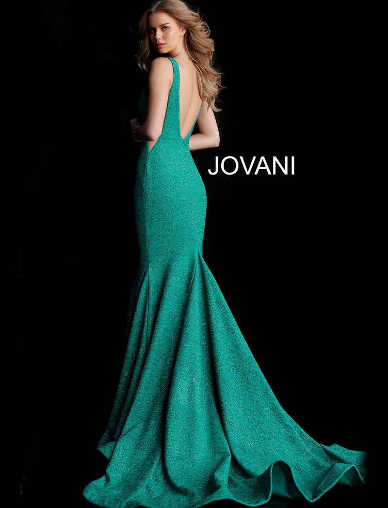 JOVANI 47075 Fitted Plunging Neckline Gown - CYC Boutique