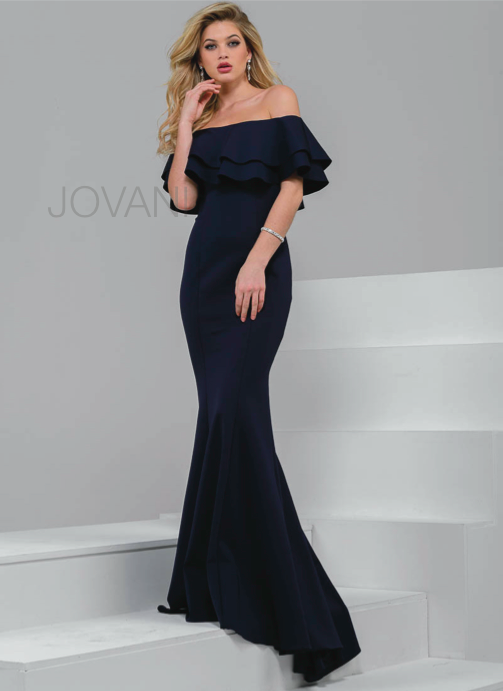 JOVANI 49631 Off-Shoulder Mermaid Evening Dress - CYC Boutique