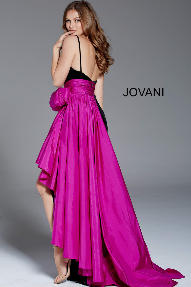 JOVANI 60319 High Slit Velvet Evening Dress - CYC Boutique
