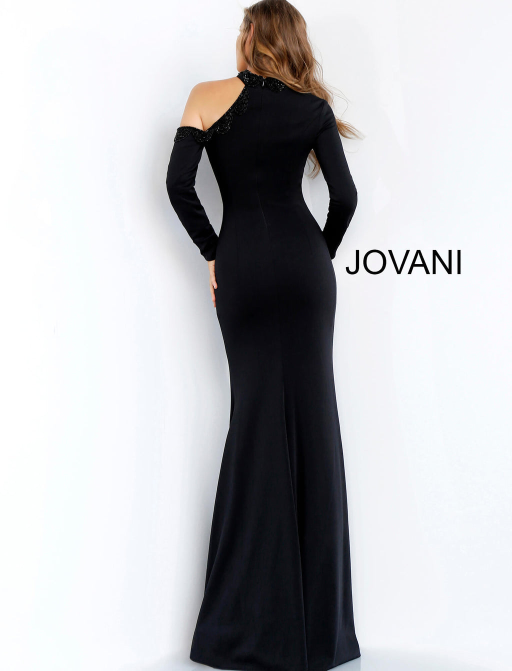 JOVANI 60937 Long Sleeve High Neck Evening Dress