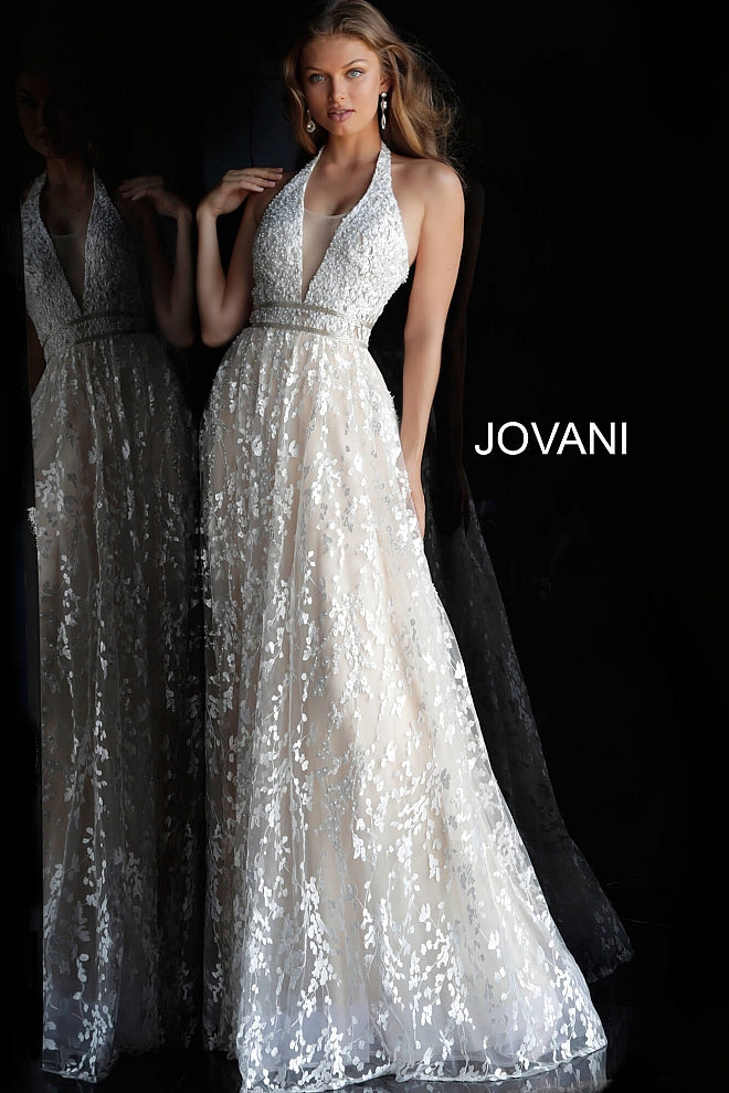 JOVANI 60938 Embellished Backless Bridal Gown 60938 - CYC Boutique