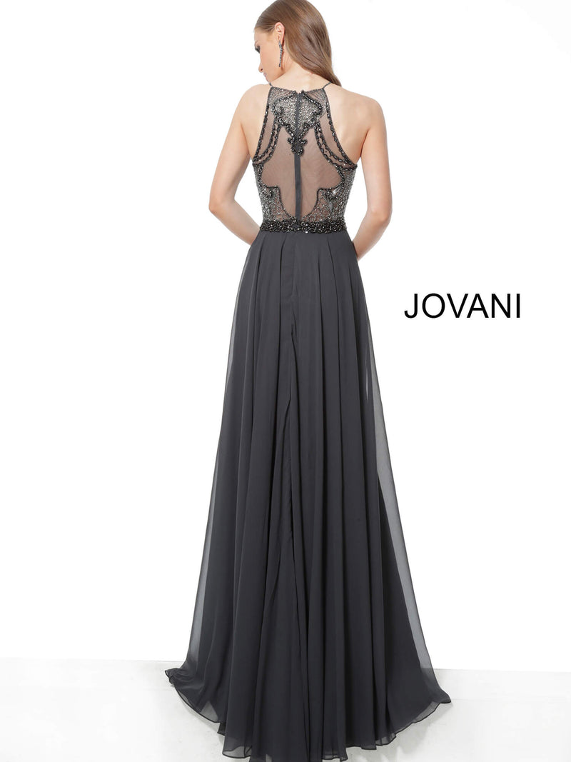 JOVANI 62391 Embellished Bodice Chiffon Evening Dress - CYC Boutique