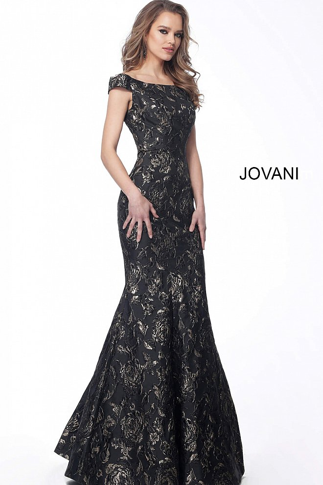JOVANI 62581 Off the Shoulder Mermaid Evening Dress - CYC Boutique