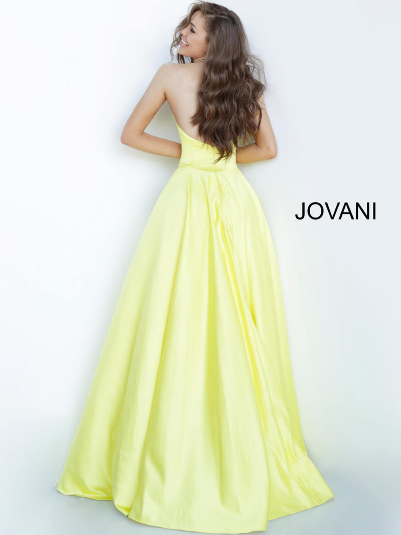 JOVANI 67847 Strapless Sweetheart Neckline Satin Evening Dress - CYC Boutique