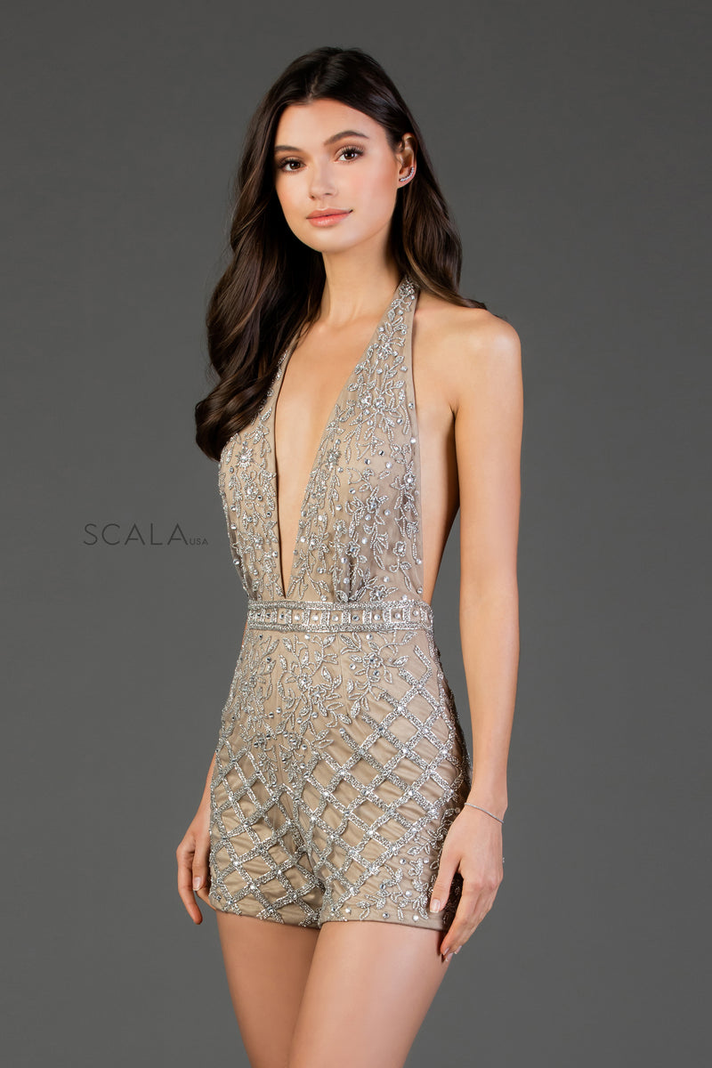 Scala 60061 Beaded Romper - CYC Boutique