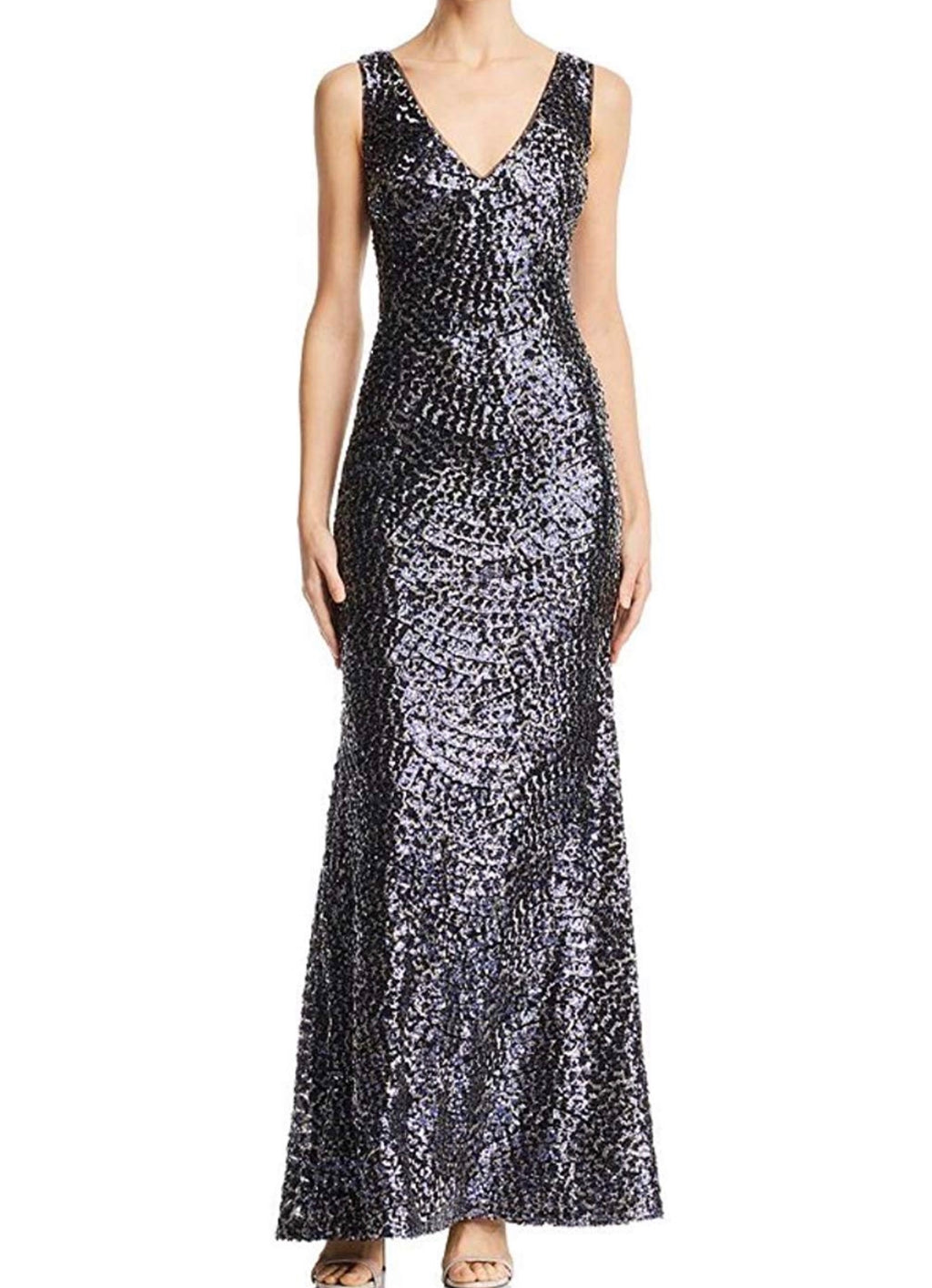 Laundry by Shelli Segal Sequin V-neck Gown - CYC Boutique
