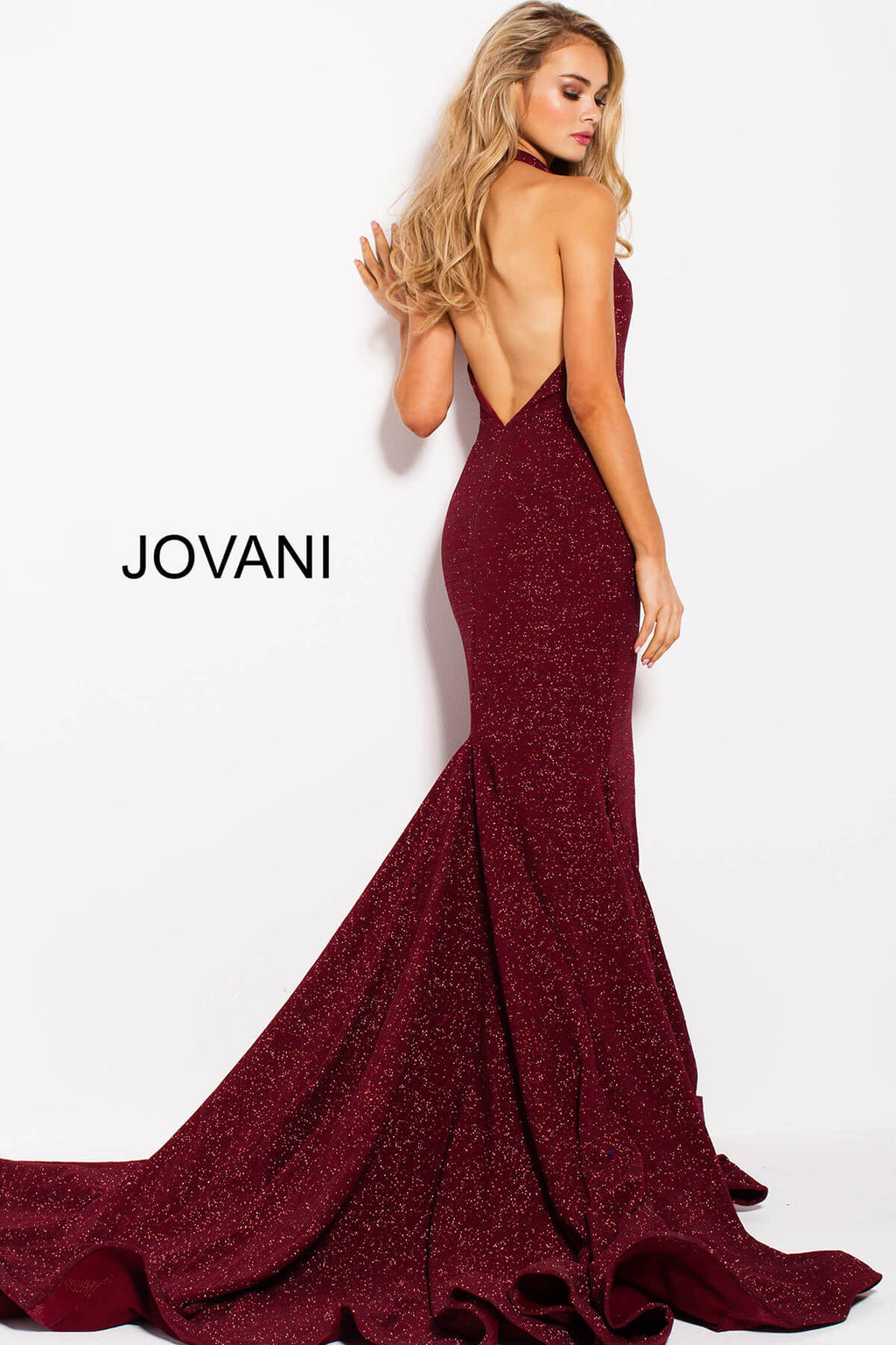 JOVANI 55414 Plunging Neck Evening Dress