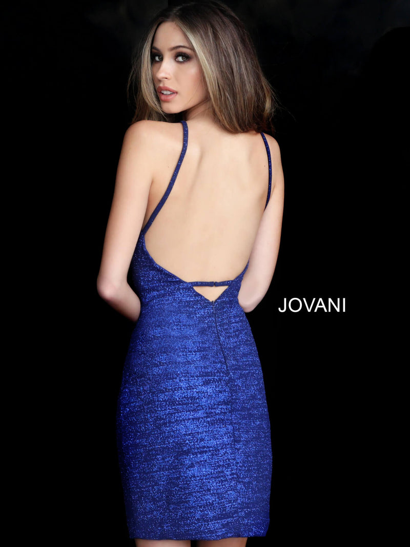 JOVANI 1355 Fitted Glitter Cocktail Dress - CYC Boutique
