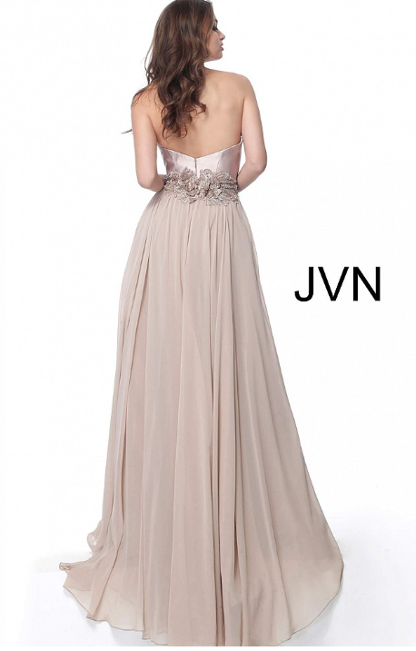 JOVANI JVN62406 Strapless Chiffon Evening Dress - CYC Boutique