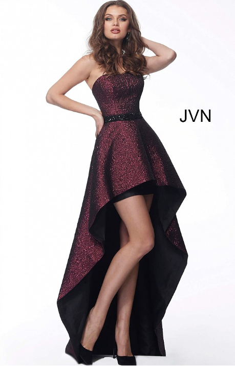 JOVANI JVN62589 Strapless High Low Evening Dress