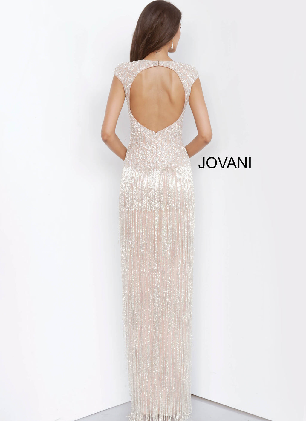 JOVANI 68792 Fringe Skirt Evening Dress