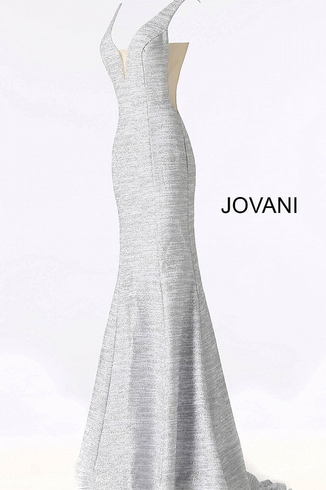 JOVANI 45812 Fitted Jersey Plunging Neckline Dress - CYC Boutique