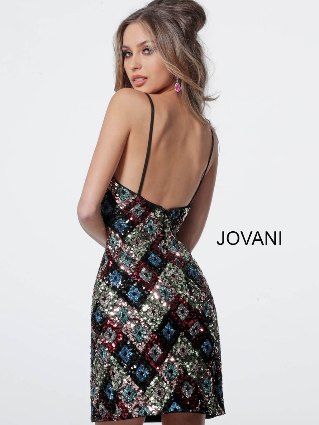 JOVANI 2108 Sequin Cocktail Dress - CYC Boutique