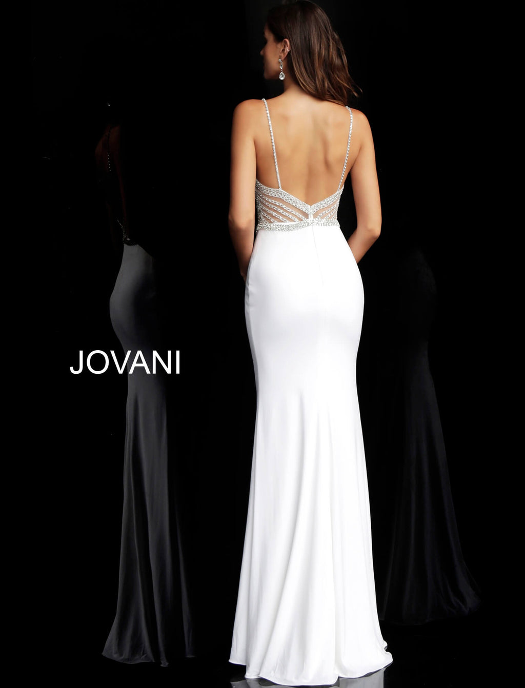 JOVANI 63147 Crystal Beaded Illusion Gown - CYC Boutique