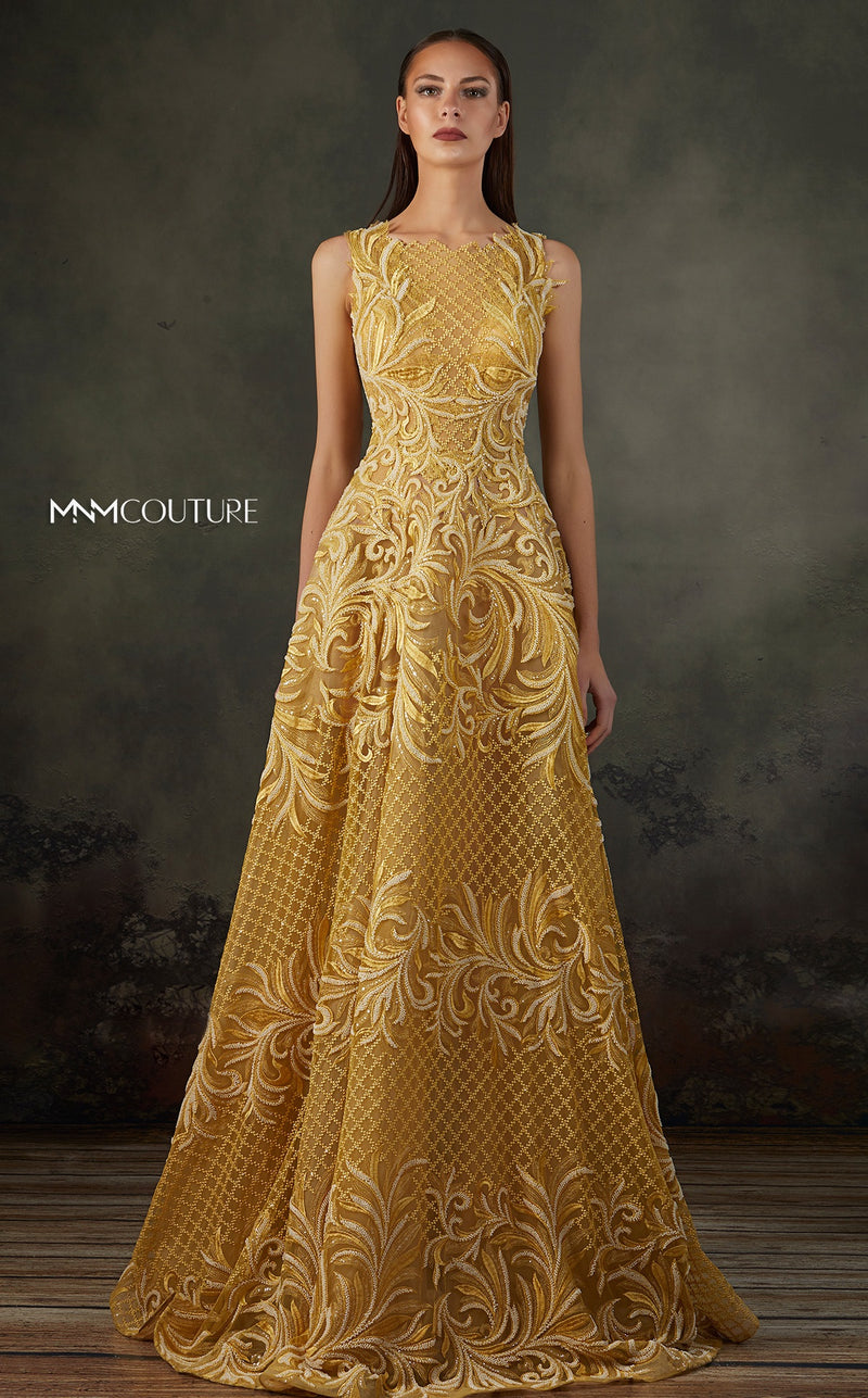 MNM Couture K3665 Embroidered A-Line Gown - CYC Boutique