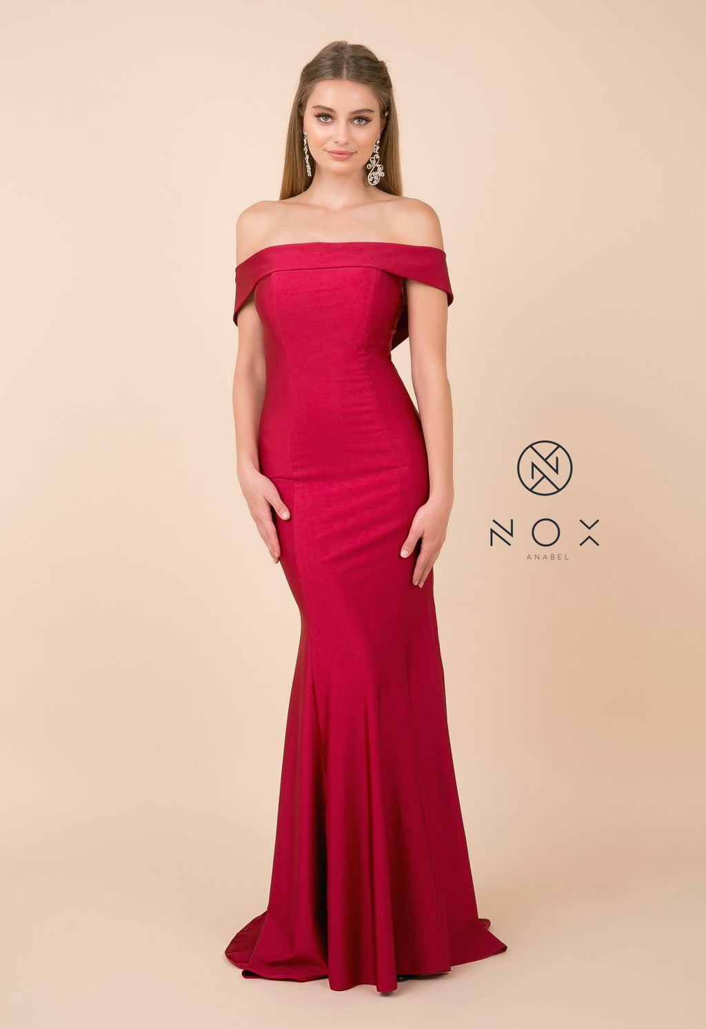 Nox Anabel N295 Off Shoulder Trumpet Dress