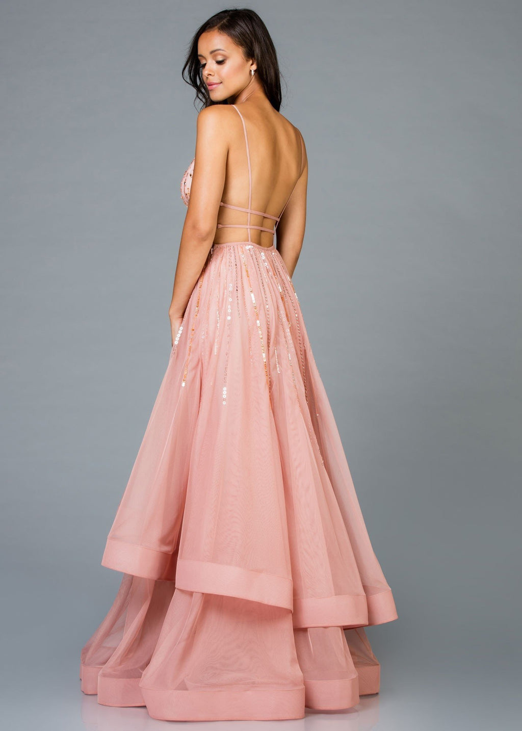 SCALA 48947 Tiered Evening Dress - CYC Boutique