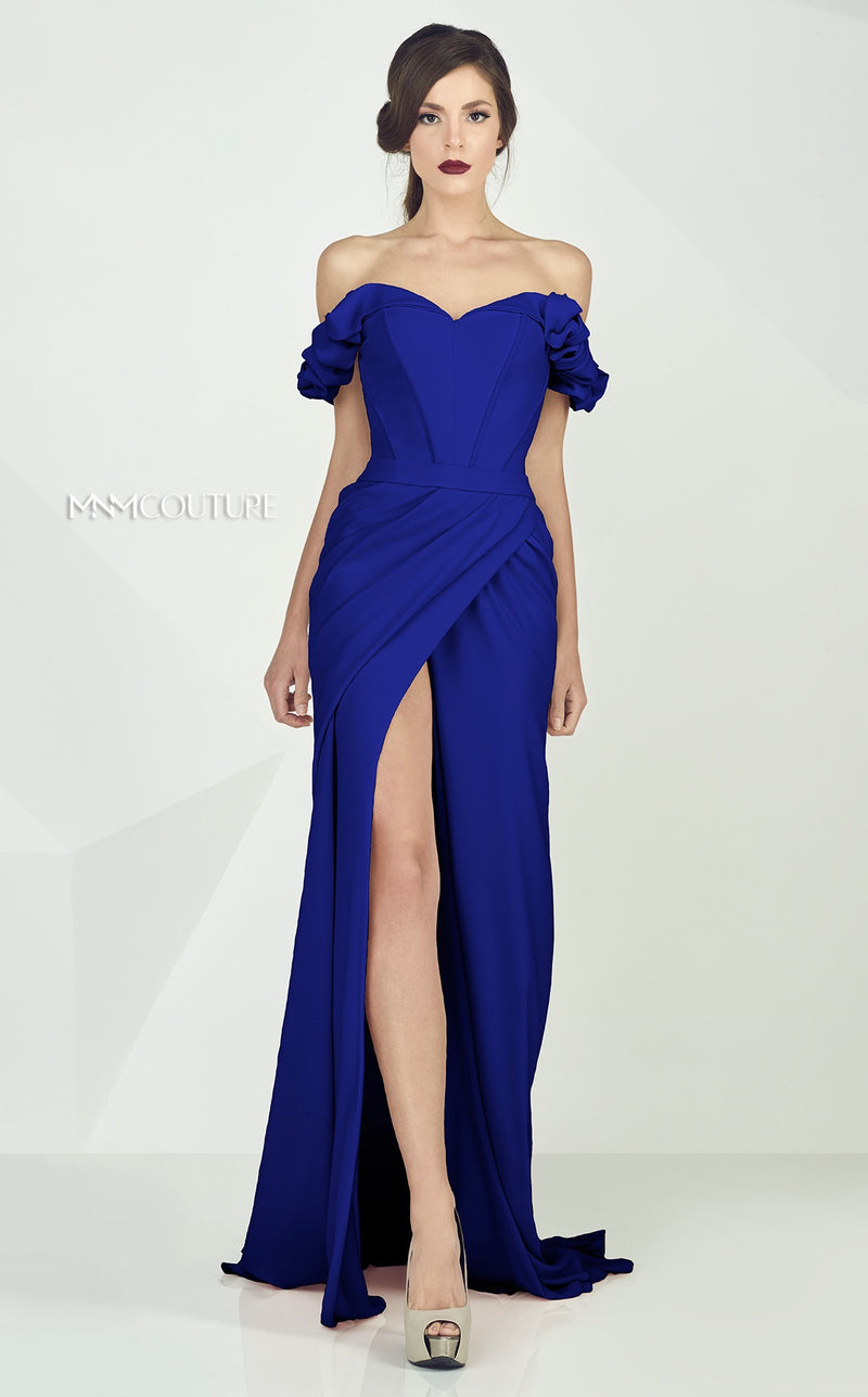 MNM Couture G0665 Off Shoulder Evening Dress - CYC Boutique