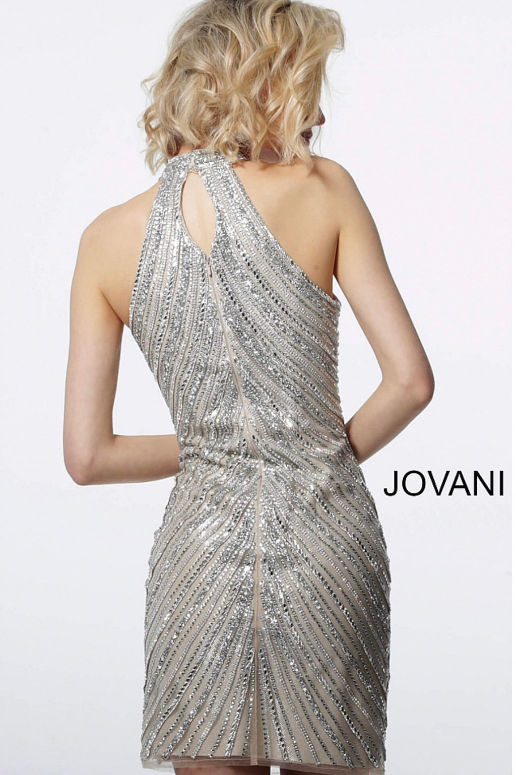 JOVANI 3834 Embellished Halter Neck Dress