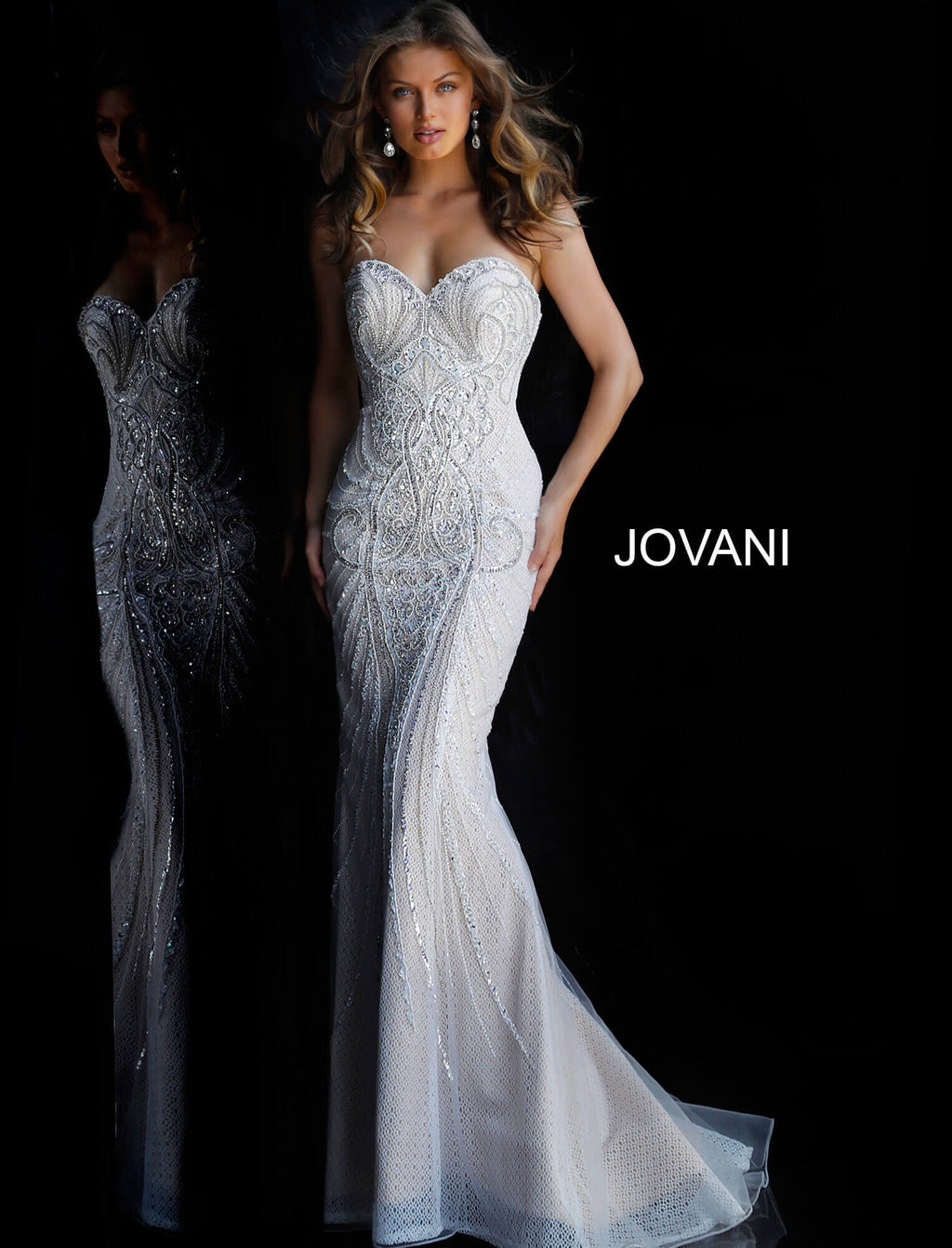 JOVANI 45566 Off Shoulder Evening Dress - CYC Boutique
