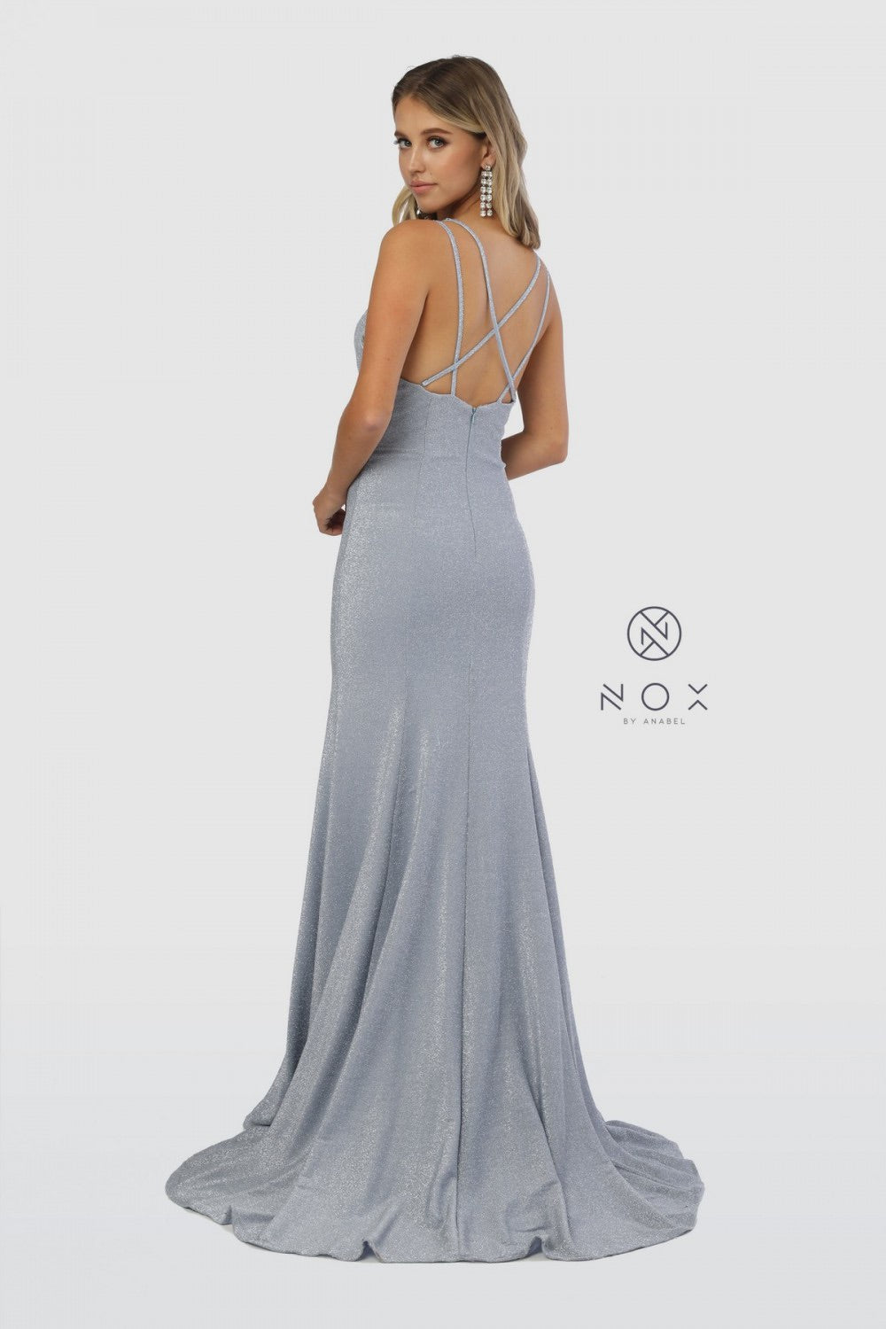 Nox Anabel C234 Fitted V-Neck Evening Dress