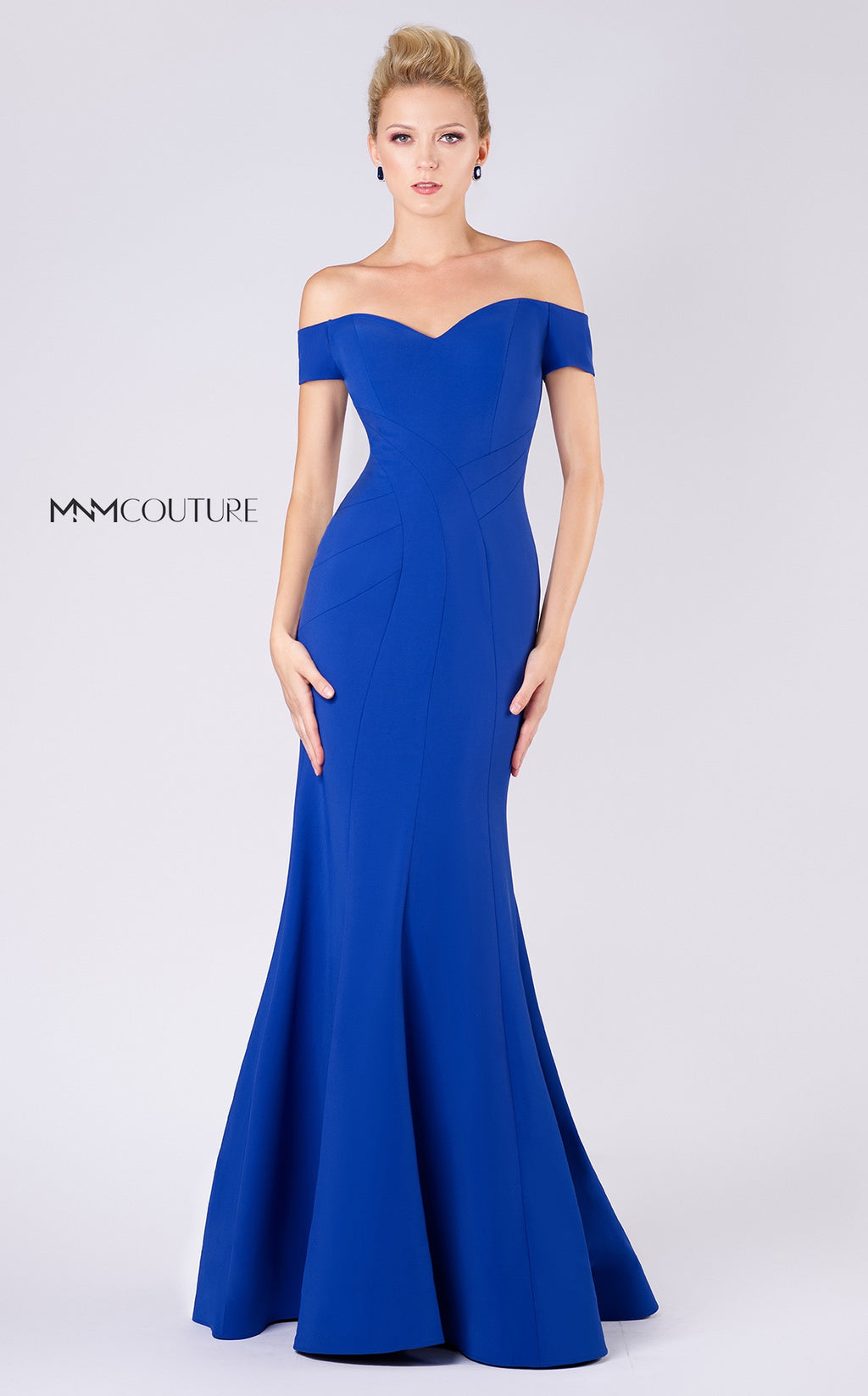 MNM Couture M0005 Crepe Mermaid Gown - CYC Boutique