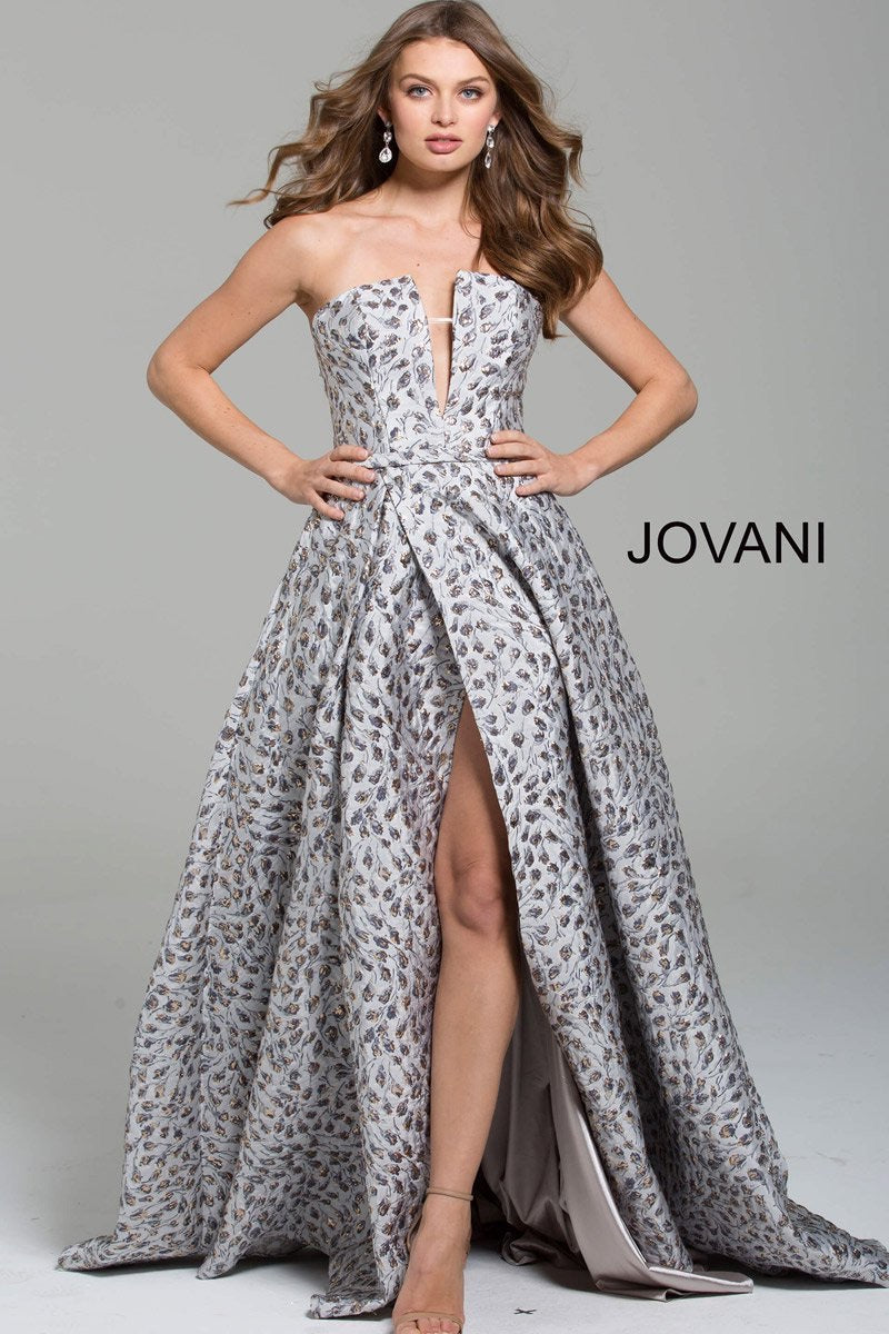 JOVANI 59632 Strapless Evening Dress - CYC Boutique