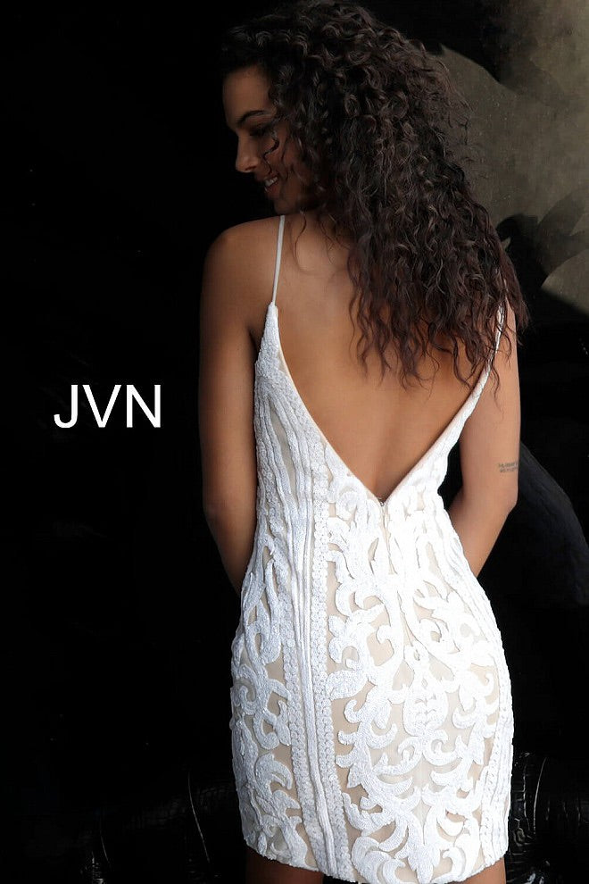 JOVANI JVN63900 Beaded Cocktail Dress - CYC Boutique