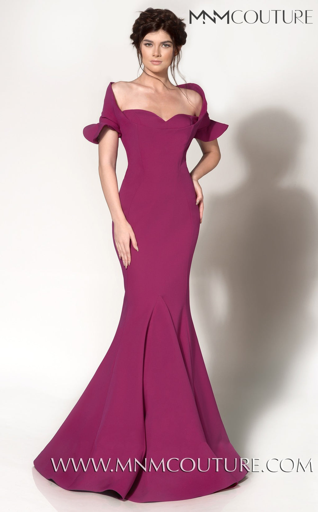 MNM Couture 2144A Off-Shoulder Evening Dress - CYC Boutique