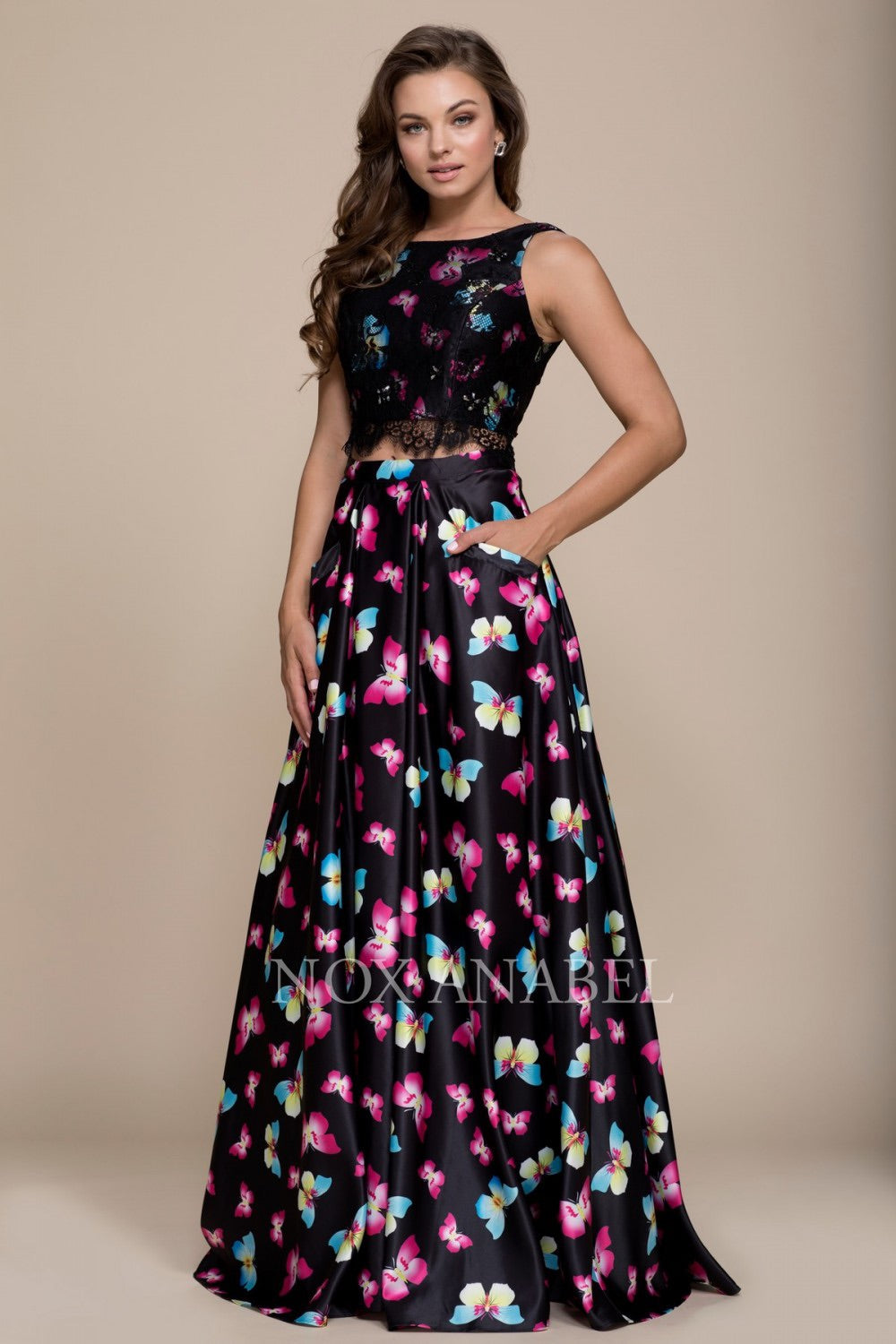 Nox Anabel 8336 Two-Piece Evening Dress