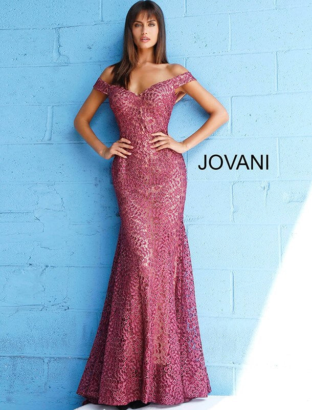 JOVANI 62021 Off the Shoulder Evening Dress - CYC Boutique