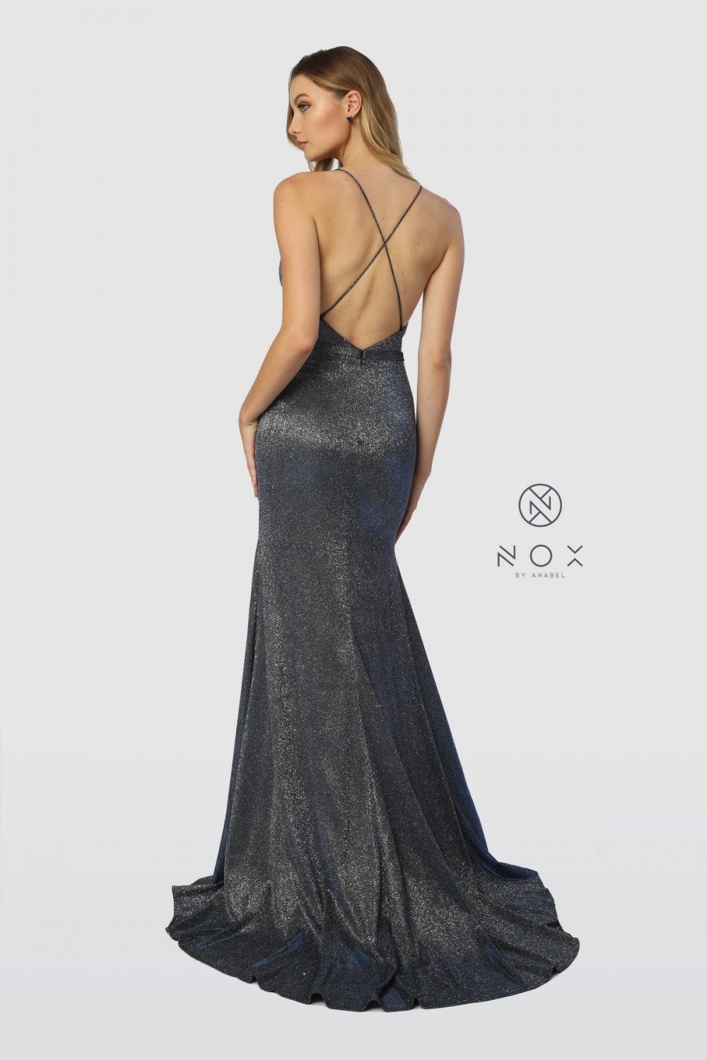 Nox Anabel C238 Plunge Front Evening Dress
