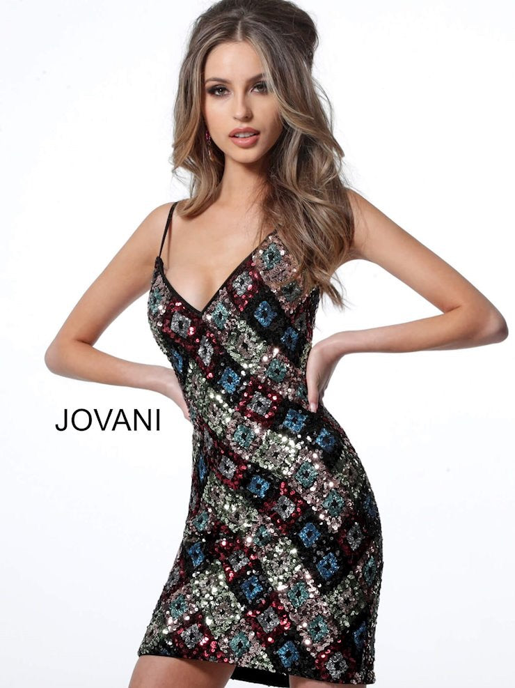JOVANI 2108 Sequin Cocktail Dress
