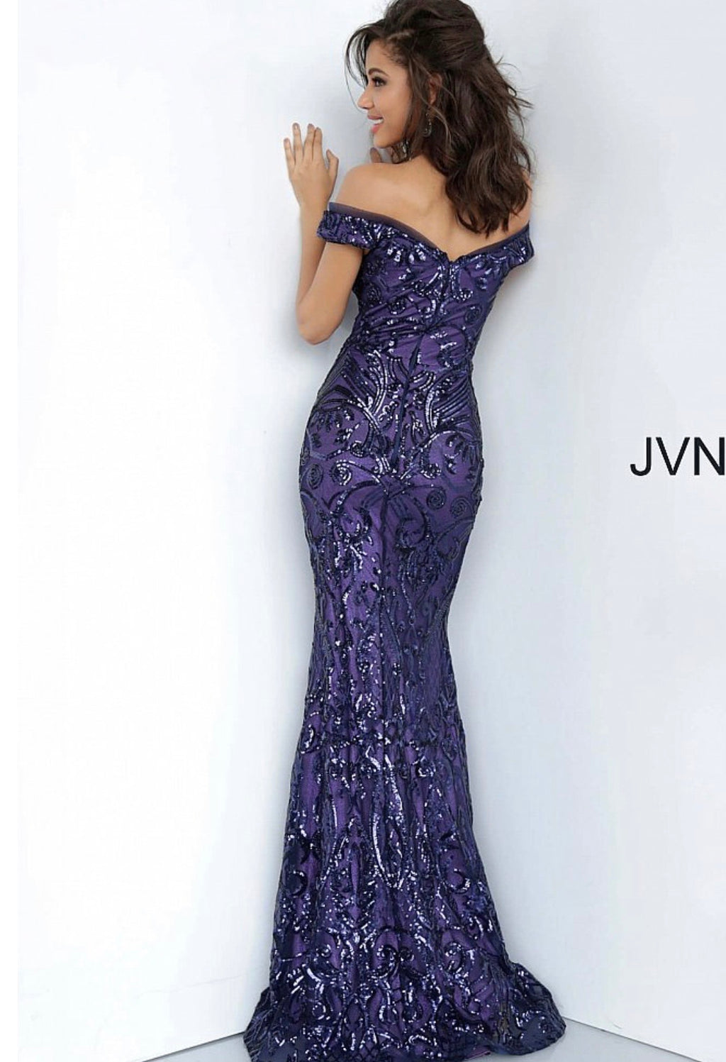 Jovani JVN4296 Off the Shoulder Sweetheart Neckline Prom Dress