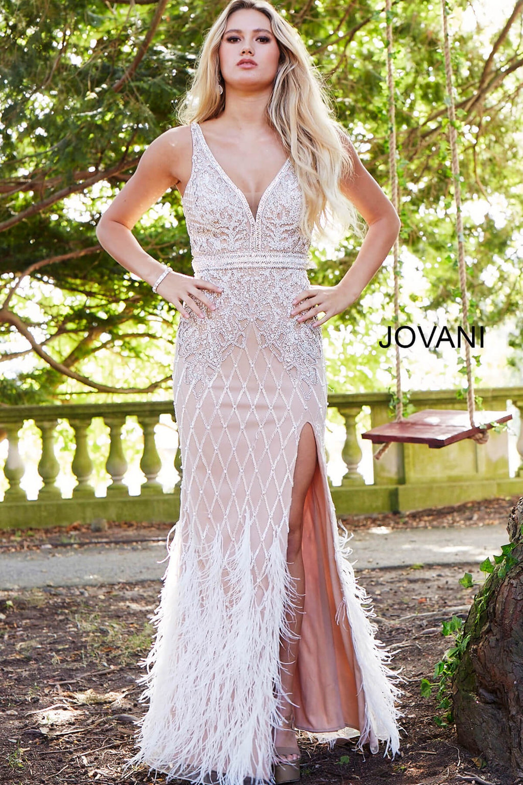 JOVANI 55796 Embellished Evening Dress