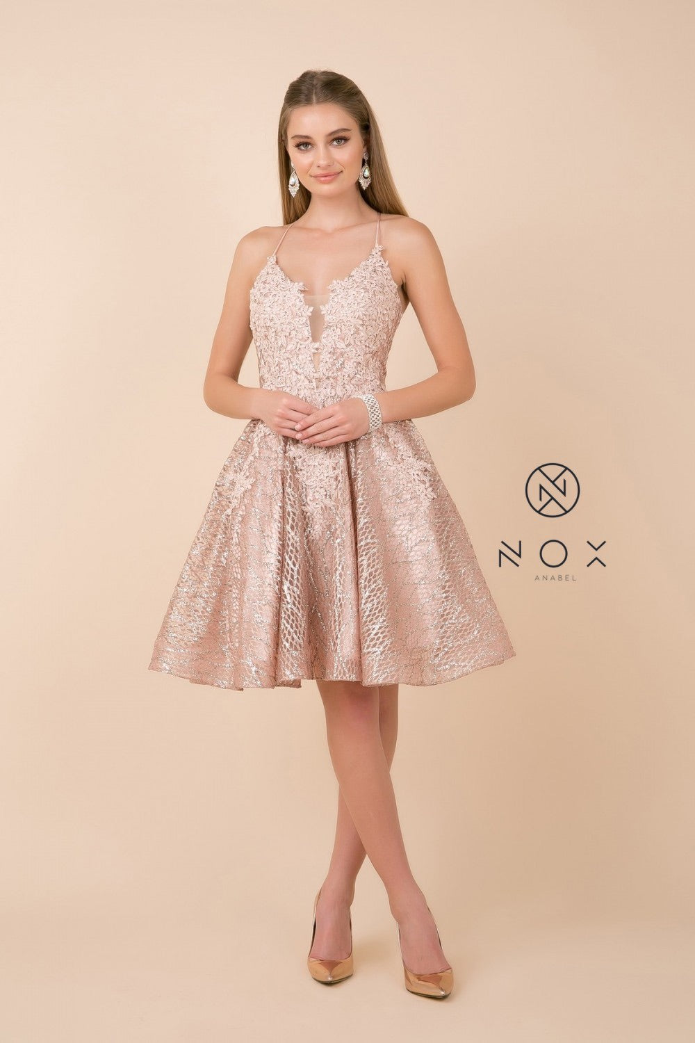 Nox Anabel R682 Embellished Party Dress