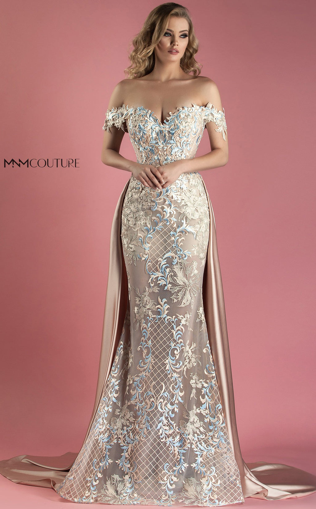 MNM Couture K3556 Off Shoulder Evening Dress - CYC Boutique