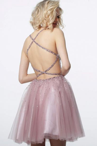 JOVANI 3627 Embellished Fit and Flare Dress