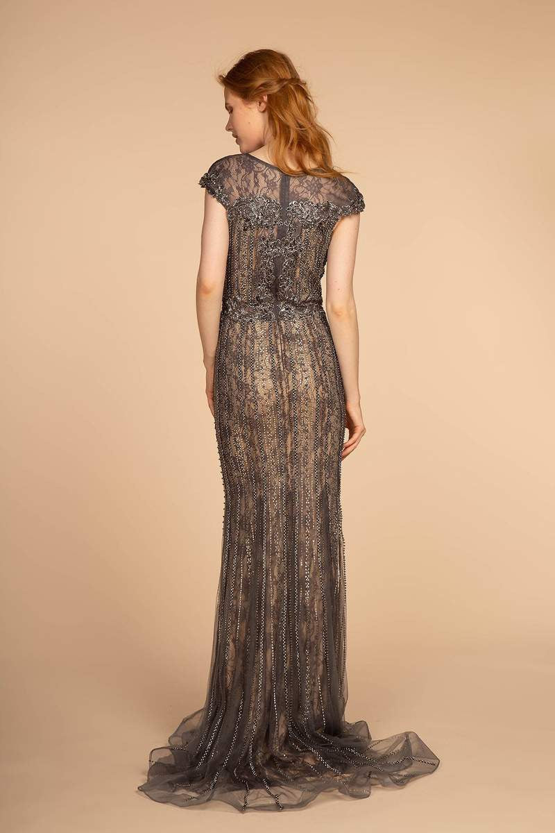 GLS by Gloria GL2533 Cap Sleeve Lace Dress - CYC Boutique