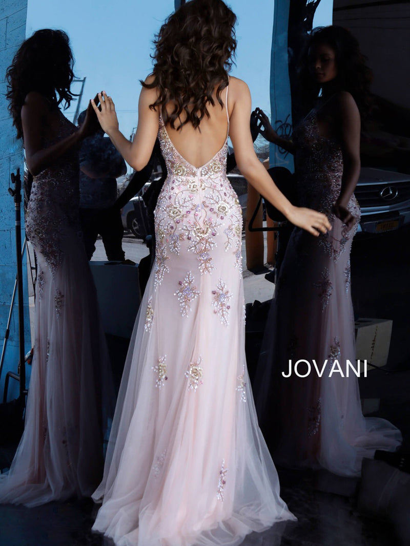 JOVANI 65322 Beaded Bodice Evening Dress - CYC Boutique