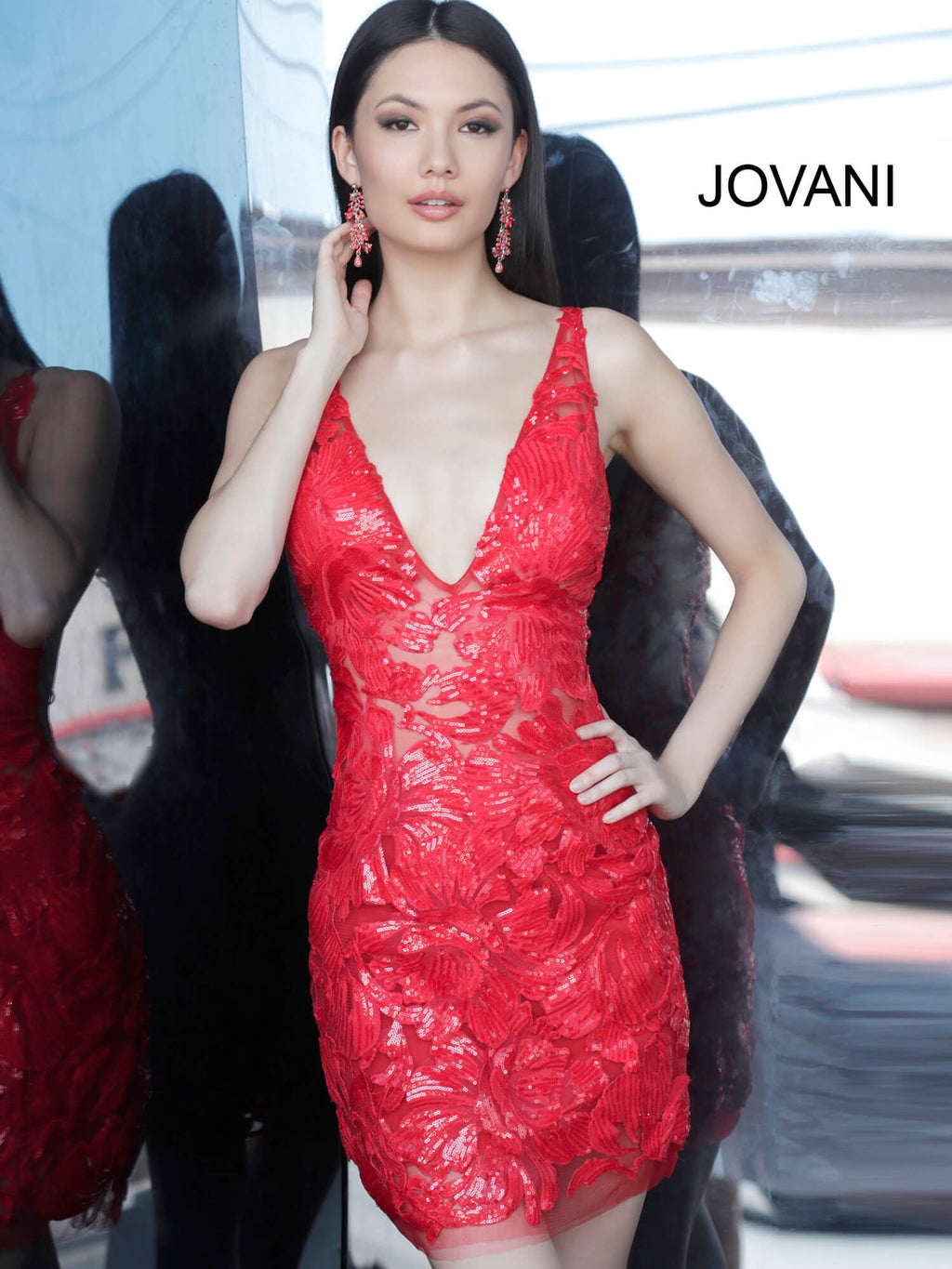 JOVANI 4552 Embellished Cocktail Dress