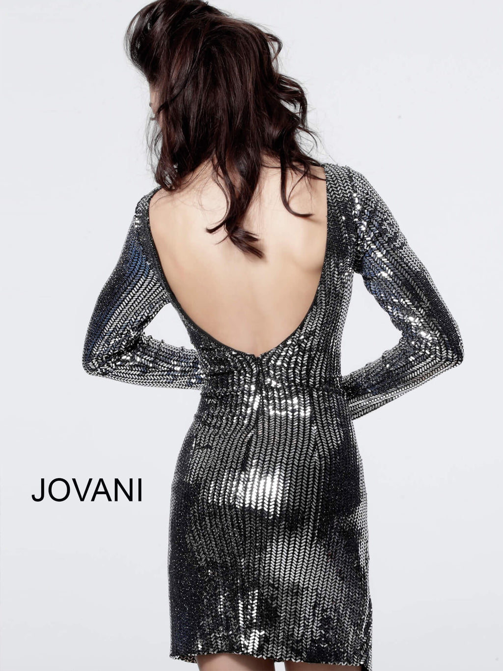 JOVANI 3478 Long Sleeve Short Dress - CYC Boutique