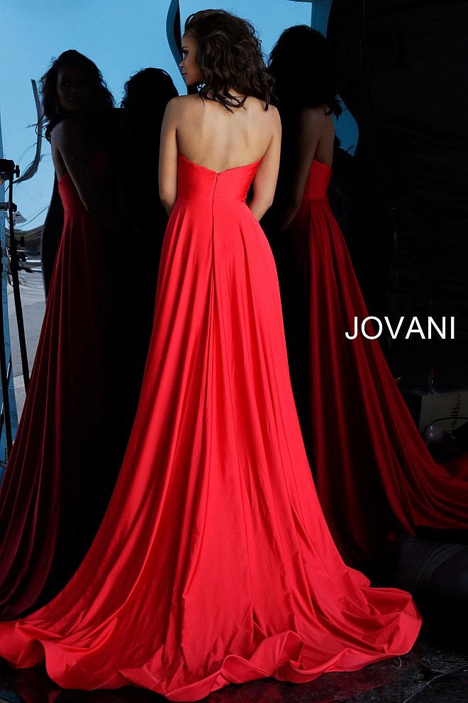 JOVANI 68641 Strapless Ruched Bodice Evening Dress - CYC Boutique